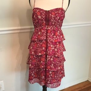 America Eagle Tiered Floral Sundress, size 12